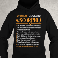 Birthday, Click, and Love: TOP 10 SIGNS  TO SPOT A TRUE  SCORPIO  1, THE MOSTMYSTERIOUS AND SO POWERFUL!  2. The ones are fiercely loyal, and over protective.  3. Who are brutally honest.  The ones have a sarcastic sense of humor  5.Seem very tough but are actually real softies.  6. Rarely fallin love but when they do,they love hard.  The ones always find out the truth.  8. Never share other people's secrets.  9. They will always rise from their own ashes.  10The ones never forget who betrayed them.  And especially the one is wearing this shirt! Only for PROUD #Scorpio - Limited Edition :) Order here => https://zodiacthing.com/true-scorpio Click link above to order now! Or click link in profile for more exclusive designs! Share & tag a Scorpio friend who would look great in this t-shirt (y) (y) (y) #birthday #scorpioseason #teamscorpio #scorpiozodiac #iamscorpio #bornasscorpio #ItsaScorpioThing #zodiacthingcom