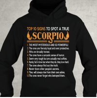 Birthday, Click, and Love: TOP 10 SIGNS  TO SPOT A TRUE  SCORPION  1. THE MOST MYSTERIOUS AND SO POWERFUL!  2.The ones are fiercely loyal and over protective.  3. Who are brutally honest.  4. The ones have a sarcastic sense of humor.  5.Seem very tough but are actually real softies.  6. Rarely fallin love but when they do,theylove hard.  7 The ones always find out the truth.  8.Never share other people's secrets.  9. They will always rise from their own ashes.  10The ones never forget who betrayed them. Only for PROUD #Scorpio - Limited Edition :) Order here => https://zodiacthing.com/true-scorpio Click link above to order now! Or click link in profile for more exclusive designs! Share & tag a Scorpio friend who would look great in this t-shirt (y) (y) (y) #birthday #scorpioseason #teamscorpio #scorpiozodiac #iamscorpio #bornasscorpio #ItsaScorpioThing #zodiacthingcom
