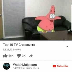 Mmm Nice.: Top 10 TV Crossovers  9,821,433 views  13K  no  WatchMojo.com  14,262,959 subscribers  Subscribe Mmm Nice.