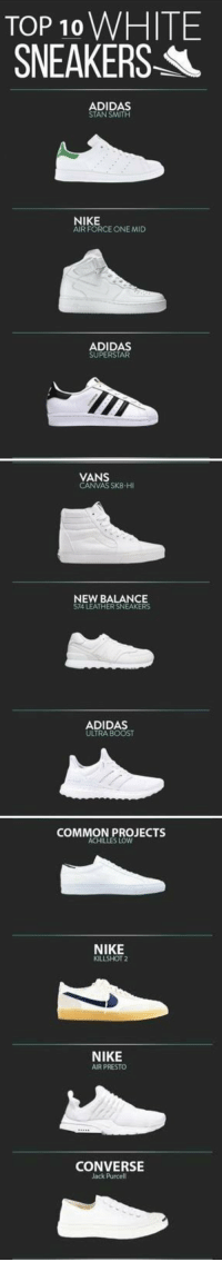 latest design authentic best TOP 10 WHITE SNEAKERS ADIDAS STAN SMITH NIKE AIR FORCE ONE ...