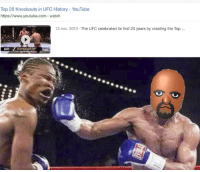 Reddit, Ufc, and youtube.com: Top 20 Knockouts in UFC History - YouTube  https://www.youtube.com watch  12 nov. 2013 The UFC celebrated its first 20 years by creating the Top