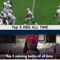 Who are your Top 5 running backs of all time, @TG3II?  (by @pizzahut) https://t.co/dbmcHjFvA7: Top 5 RBS ALL TIME  Top 5 running backs of all time Who are your Top 5 running backs of all time, @TG3II?  (by @pizzahut) https://t.co/dbmcHjFvA7