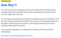 TOP DEFINITION Jam Boy the Jam Boy Was First Introduced as Early as the  1800s When the British Empire Occupied India When the British Gentry Went  to Play Golf They Would Have