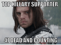 Winter Soldier for Veep: TOP HILLARY SUPPORTER  4 DEAD  AND COUNTING  OWNLOAD MEME GENERATOR FROM HTTP  ECRUNCH COMM Winter Soldier for Veep