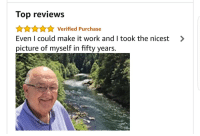 """Selfie, Selfie Stick, and Work: Top reviews  AAnVerified Purchase  Even I could make it work and I took the nicest >  picture of myself in fifty years. <p>This selfie stick review is adorable via /r/wholesomememes <a href=""""http://ift.tt/2eAof9v"""">http://ift.tt/2eAof9v</a></p>"""