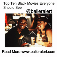 "Bae, Bye Felicia, and Definitely: Top Ten Black Movies Everyone  Should See  @balleralert  Read More:www.balleralert.com Top Ten Black Movies Everyone Should See - blogged by @its_sharr ⠀⠀⠀⠀⠀⠀⠀⠀ ⠀⠀⠀⠀⠀⠀⠀ It's true.. there's nothing better than black Hollywood especially in the form of film. From iconic movies like ""A Raisin in the Sun"" to more modern day classics like ""Friday,"" black films have been making us laugh and cry for years. In case you haven't seen any of the movies we like to call classics, check out a list of our favorite black films that everyone should see. ⠀⠀⠀⠀⠀⠀⠀⠀ ⠀⠀⠀⠀⠀⠀⠀ ""Love Jones"" Black love has never looked so good on film and we have ""Love Jones"" to thank for bringing its beauty to the big screen. Not only was this film romantic and incredibly sexy, it launched black poetry readings nationwide in attempts to snag a bae as fine as Nia Long or Larenz Tate. ⠀⠀⠀⠀⠀⠀⠀⠀ ⠀⠀⠀⠀⠀⠀⠀ ""A Raisin in The Sun"" Whether you watched the 2008 version or the 1961 version, ""A Raisin In The Sun"" is a must see! The movie is an adaptation of an award-winning, 1959 play written by Lorraine Hansberry and focuses on a black family living in Chicago's South Side. The film takes audiences on highs and lows of a financial crisis and family ties and shows just how strong the black family really is. ⠀⠀⠀⠀⠀⠀⠀⠀ ⠀⠀⠀⠀⠀⠀⠀ ""The Wiz"" ""The Wiz"" was legendary because it was the first black fantasy film in the 1970s era. With classic songs and performances from icons such as Diana Ross and Michael Jackson, it's a film that you should be proud exists in our culture. ⠀⠀⠀⠀⠀⠀⠀⠀ ⠀⠀⠀⠀⠀⠀⠀ ""Friday"" There's not much left to say about ""Friday"" other than if you don't know where the phrases ""Bye Felicia,"" ""and you know this... man,"" or ""you just got knocked the f*ck out"" came from, then you definitely need to make watching this film next on your to-do list. ""Friday"" was clever and has been the blueprint for every black comedy since its release. It's incredibly honest, natural, life-like and one of the funniest movies ever ... to read more log on to BallerAlert.com (clickable link on profile)"