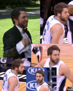 Charlie, Doppelganger, and Nba: TOR hotbully:  1612th:  strictlygamee:  Charlie Day doppelganger: NBA player Josh McRoberts  I refuse to believe that isn't charlie day   The gang infiltrates the nba.