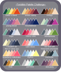 """<p><a href=""""http://plastic-knife.tumblr.com/post/158187842664/made-another-one-of-those-palette-challenge"""" class=""""tumblr_blog"""" target=""""_blank"""">plastic-knife</a>:</p>  <blockquote><p>made another one of those palette challenge things, i wont be taking requests for it rn but feel free to reblog this and have ur followers challenge you</p><p>ya can repost it on other websites or w/e but for the love of god credit me, i even made it easy for u and slapped my url right on the top so u cant say u forgot who made it</p></blockquote>: Torddkin Palette Challenge  make a stand  amber safety  vintage  young blood  mountainous  peace  frigid  cherry coke  klöntalresee  i wouldn't do  this if i were you  our love will  transcend universes  calm down  strawberry milkshake  rhythm  marinette  mud  part time  delicately <p><a href=""""http://plastic-knife.tumblr.com/post/158187842664/made-another-one-of-those-palette-challenge"""" class=""""tumblr_blog"""" target=""""_blank"""">plastic-knife</a>:</p>  <blockquote><p>made another one of those palette challenge things, i wont be taking requests for it rn but feel free to reblog this and have ur followers challenge you</p><p>ya can repost it on other websites or w/e but for the love of god credit me, i even made it easy for u and slapped my url right on the top so u cant say u forgot who made it</p></blockquote>"""