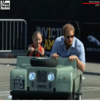 Prince Harry climbed aboard a mini SUV and let a 5-year-old drive him around a track on Saturday in Toronto, Canada.: Toronto, Canada  FOX  NEWS  APTN  ACUA  HUE Prince Harry climbed aboard a mini SUV and let a 5-year-old drive him around a track on Saturday in Toronto, Canada.
