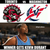 The Thunder won't be in the playoffs this year. You think KD won't be watching: TORONTO  VS WASHINGTON  @Raptors Memes  WINNER GETS KEVIN DURANT The Thunder won't be in the playoffs this year. You think KD won't be watching
