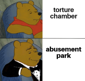 Abusement park is open to all: torture  chamber  abusement  park  (CF Abusement park is open to all