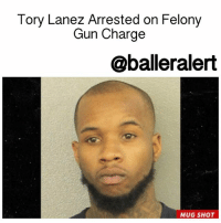 Tory Lanez Arrested on Felony Gun Charge - blogged by @MsJennyb ⠀⠀⠀⠀⠀⠀⠀⠀⠀ ⠀⠀⠀⠀⠀⠀⠀⠀⠀ On Wednesday, Canadian rapper ToryLanez was arrested by Miramar police, after a routine traffic stop uncovered drugs and guns in the rapper's possession. ⠀⠀⠀⠀⠀⠀⠀⠀⠀ ⠀⠀⠀⠀⠀⠀⠀⠀⠀ According to TMZ, Lanez was initially pulled for the tags on his car, however, during the stop officials found a small amount of weed, a gun and realized that the rapper had been driving without a valid license. As a result, Lanez was charged with a first-degree misdemeanor for possession of 20 grams or less of weed and a third-degree felony for the gun. Officials also booked him for failure to register a motor vehicle, driving without a valid driver's license and failure to show proof of liability insurance. ⠀⠀⠀⠀⠀⠀⠀⠀⠀ ⠀⠀⠀⠀⠀⠀⠀⠀⠀ The rapper was released after posting a $1,000 bond.: Tory Lanez Arrested on Felony  Gun Charge  @balleralert  MUG SHOT Tory Lanez Arrested on Felony Gun Charge - blogged by @MsJennyb ⠀⠀⠀⠀⠀⠀⠀⠀⠀ ⠀⠀⠀⠀⠀⠀⠀⠀⠀ On Wednesday, Canadian rapper ToryLanez was arrested by Miramar police, after a routine traffic stop uncovered drugs and guns in the rapper's possession. ⠀⠀⠀⠀⠀⠀⠀⠀⠀ ⠀⠀⠀⠀⠀⠀⠀⠀⠀ According to TMZ, Lanez was initially pulled for the tags on his car, however, during the stop officials found a small amount of weed, a gun and realized that the rapper had been driving without a valid license. As a result, Lanez was charged with a first-degree misdemeanor for possession of 20 grams or less of weed and a third-degree felony for the gun. Officials also booked him for failure to register a motor vehicle, driving without a valid driver's license and failure to show proof of liability insurance. ⠀⠀⠀⠀⠀⠀⠀⠀⠀ ⠀⠀⠀⠀⠀⠀⠀⠀⠀ The rapper was released after posting a $1,000 bond.