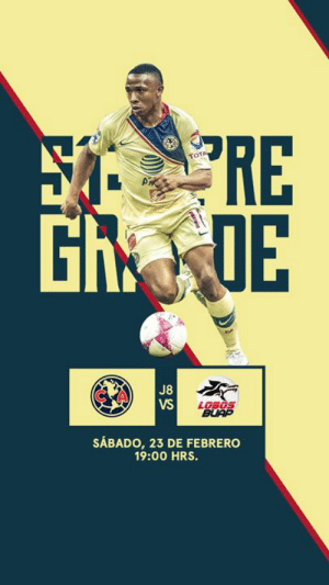 🚨 IT'S GAMEDAY 🚨  🆚 // Lobos BUAP 🕤 // 8:00 pm EST / 5:00 pm PST 📍 // Estadio Azteca 📺🇲🇽 // Televisa 📺🇺🇸 // Univision Sports 📰 // https://bit.ly/2VgxIm6  🦅 // #FlyWithUs: TOTA  0  PIR  Gh  OE  C A  J8  VS  BUAP  SÁBADO, 23 DE FEBRERO  19:00 HRS. 🚨 IT'S GAMEDAY 🚨  🆚 // Lobos BUAP 🕤 // 8:00 pm EST / 5:00 pm PST 📍 // Estadio Azteca 📺🇲🇽 // Televisa 📺🇺🇸 // Univision Sports 📰 // https://bit.ly/2VgxIm6  🦅 // #FlyWithUs