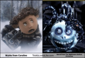 Totallylookslikecom Barrel From The Nightmare Before Christmas Wybie From Coraline Wybie From Coraline Totally Looks Like Barrel From The Nightmare Christmas Meme On Me Me
