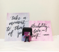Memes, Pop, and Amethyst: tote.  AND  GARNET photoshoot with some quotes i wrote and my garnet pop! stevenuniverse garnet amethyst pearl cartoonnetwork funkopop funkopops