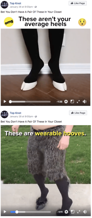 big-boss-official:whatever man lil wayne been had these: TOTop Knot  KNOT  Like Page  January 28 at 9:00pm  Bet You Don't Have A Pair Of These In Your Closet  a These aren't your  oms average heels  기  -1:25   O Top Knot  KNOT  Like Page  January 28 at 9:00pm .  Bet You Don't Have A Pair Of These In Your Closet  These are  wearable hooves big-boss-official:whatever man lil wayne been had these