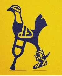 Memes, 🤖, and Logo: Tottenham have updated their logo after having 37 first-team injuries this season 😢👌😑