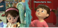 Alive, America, and Apparently: Tou Storu 3  Monsters Inc. ask-the-candleheaded-girl:  nerdofchaos:  favabean05:  notloki:  tayloki:  toughtink:  bamchrista:  kaeorin:  beearghcee:  tyleroakley:  Apparently this has been confirmed by Disney Pixar developers.   Life. Complete.  oh my god.  WH-WH-WHAAAAAAAAAAAAAAAT. I MISS YOU BOO.  omg and she's playing with a blue kitty toy. :3  #so #do all pixar movies #take place in the same universe? #like toys are secretly alive #monsters are real #meanwhile in france rats are cooking #and in australia fish plan on escaping #and somewhere in south america a house just landed on a cliff #and in the future the humans just rediscovered earth #and superheroes have been real this whole time #just in hiding #and cars is just some kid's fever dream #because toys are real and all and long agoo a strong Scottish wooman didn't need noo man  So very canon  Literally screamed.  OH MY GOD  ((Mary/Boo was in Toy Story 3……I LOVE YOU PIXAR!!))