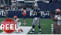 Nfl, Savage, and Highlight Reel: TOUCHD O WN  8  HIGHLIGHT  REEL This is the most savage Gronk Spike ever #Madden18  https://t.co/itFBm12iVd