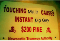 "Bailey Jay, Dank, and Meme: TOUCHING Male CAUSES  INSTANT Big Gay  $200 FINE  Newcastle Tramway Authority <p>Socks are essential items via /r/dank_meme <a href=""http://ift.tt/2FGtG2e"">http://ift.tt/2FGtG2e</a></p>"