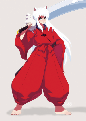 Netflix, Target, and Tumblr: tovio-rogers:   inuyasha drawn up as a warmup. i recently started re-watching it on netflix