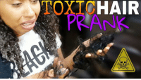 Memes, Prank, and Hair: TOXTCHAIR  PRANK I literally thought my hair fell out!!!! Who remembers this prank my brother did on me? @all_hail_lloyd 🤦🏽♀️👊🏽😂 ➖➖➖➖➖➖➖➖➖➖➖➖➖ FOLLOW @bro.vs.sister we will be doing more pranks on each other 😝😝 ➖➖➖➖➖➖➖➖➖➖➖➖➖ tagafriend tagASibling hahaha pranks