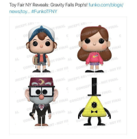 Memes, News, and Pop: Toy Fair NY Reveals: Gravity Falls Pop!s!  funko.com/blogs/  news/toy... #FunkoTFNY  FINAL UNCEPTAR  NCEPTABL  FINAL  CON%  OT FINAL  NOT FINA  NOT Fit  NOT FII I NEED THEM ALL ESPECIALLY BILL