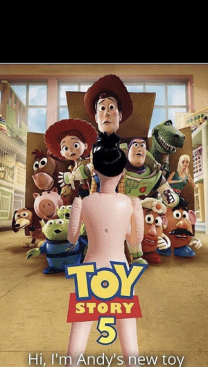 Helllllooo there: TOY  STORY  Hi, I'm Andy's new toy Helllllooo there