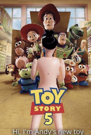 Warning: SPOILERS: TOY  STORY  Hi, I'm Andy's new toy Warning: SPOILERS