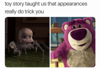 Memes, Toy Story, and 🤖: toy story taught us that appearances  really do trick you  C) https://t.co/qgISpV68nT