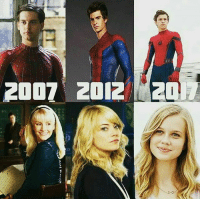 Memes, Emma Stone, and Best: TP  OZ ZIDZ L002 All the Peter Parker and Gwen Stacy Who's your favorite Peter Parker (because we all know Emma Stone is the best Gwen Stacy 👌 but we'll see about Angourie Rice)