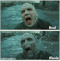 Harry Potter, Memes, and Movies: tr unga teeReal  2011 Warner Bros Ent All Rights Rosorvod  Gl@movies epfects Must follow 👉@Movies.Effects for more. Harry potter & deathly hallows (2).After-Before Effects. This is how Lord Voldemort looks in real in part 7.Btw the character is played by 6 different actors. harrypotter behindthescenes danielradcliffe vfx emmawatson lordvoldemort robertpattinson