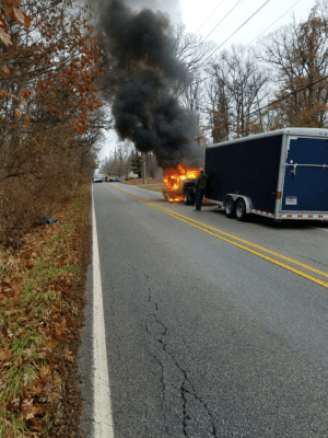 Our truck caught fire this morning! (Everyone is ok): TR968AEL Our truck caught fire this morning! (Everyone is ok)