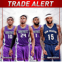 DeMarcus Cousins, Future, and Memes: TRADE ALERT  AL  VN DESIGN  AL  fOYraVNDSGN TRADEALERT Sacramento Kings get: Buddy Hield, Tyreke Evans, Langston Galloway and a future 1st-round & 2nd-round pick. New Orleans Pelicans: DeMarcus Cousins VNdesign