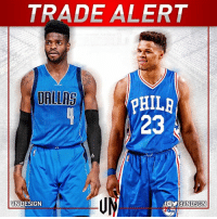 #TRADEALERT  Philadelphia 76ers are sending Nerlens Noel to Dallas Mavericks for Andrew Bogut, Justin Anderson and a 1st rounder.   Bogut and 76ers expected to engage on buyout.  #VNdesign: TRADE ALERT  DALLAS  pHILR  dVNDSGN  VN DESIGN #TRADEALERT  Philadelphia 76ers are sending Nerlens Noel to Dallas Mavericks for Andrew Bogut, Justin Anderson and a 1st rounder.   Bogut and 76ers expected to engage on buyout.  #VNdesign