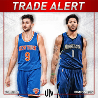 The New York Knicks and Minnesota Timberwolves have discussed a trade centered around swapping PGs Derrick Rose and Ricky Rubio, according to ESPN's Ian Begley and Brian Windhorst.  #VNdesign: TRADE ALERT  MINNESOTA  NEW YORK  VN DESIGN The New York Knicks and Minnesota Timberwolves have discussed a trade centered around swapping PGs Derrick Rose and Ricky Rubio, according to ESPN's Ian Begley and Brian Windhorst.  #VNdesign