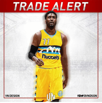 #TRADEALERT  The Milwaukee Bucks have traded Roy Hibbert to the Denver Nuggets for a 2nd-round pick.  #VNdesign: TRADE ALERT  nuGGets  VN DESIGN  fOYraVNDSGN #TRADEALERT  The Milwaukee Bucks have traded Roy Hibbert to the Denver Nuggets for a 2nd-round pick.  #VNdesign