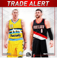 #TRADEALERT  Denver Nuggets get: Mason Plumlee, 2018 2nd round pick.   Portland Trail Blazers get: Jusuf Nurkić-BosnianBeast23, 2017 1st round draft pick  #VNdesign: TRADE ALERT  PORTLAND  nuGGets  VN DESIGN #TRADEALERT  Denver Nuggets get: Mason Plumlee, 2018 2nd round pick.   Portland Trail Blazers get: Jusuf Nurkić-BosnianBeast23, 2017 1st round draft pick  #VNdesign