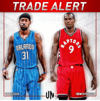 #TRADEALERT  Orlando Magic have agreed to trade Serge Ibaka to Toronto Raptors for Terrence Ross  and a 2017 1st-round pick.  #VNdesign: TRADE ALERT  PTO  ORLANDO  DESIGN  VN #TRADEALERT  Orlando Magic have agreed to trade Serge Ibaka to Toronto Raptors for Terrence Ross  and a 2017 1st-round pick.  #VNdesign