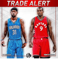 The Magic have traded Serge Ibaka to the Raptors for Terrence Ross and a 2017 first round pick. Are the raptors going to be better or worse? Comment below👇 (Edit via @vndsgn): TRADE ALERT  PTO  ORLANDO  VN DESIGN The Magic have traded Serge Ibaka to the Raptors for Terrence Ross and a 2017 first round pick. Are the raptors going to be better or worse? Comment below👇 (Edit via @vndsgn)