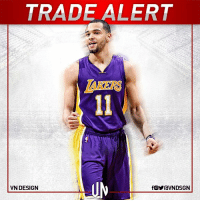 Houston Rockets, Memes, and Houston: TRADE ALERT  VN DESIGN  fOYraVNDSGN #TRADEALERT  The LA Lakers sent Marcelinho Huertas to the Houston Rockets for Tyler Ennis. The Rockets will waive Huertas, according to Adrian Wojnarowski.  #VNdesign