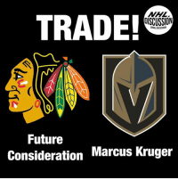 Blackhawks, Future, and Memes: TRADE!  DISCUSSION  GNHLDISCUSSION  Future  Consideration Marcus Kruger Marcus Kruger is headed to the Golden Knights! Kruger Blackhawks Vegas GoldenKnights NHLDiscussion