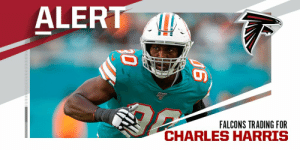TRADE: Falcons acquiring former first-round DE Charles Harris from Dolphins. (via @TomPelissero) https://t.co/yztEl1jbQj: TRADE: Falcons acquiring former first-round DE Charles Harris from Dolphins. (via @TomPelissero) https://t.co/yztEl1jbQj