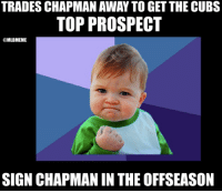 Mlb, Cubs, and Trading: TRADES CHAPMAN AWAY TO GET THE CUBS  TOP PROSPECT  @MLBMEME  SIGN CHAPMAN IN THE OFFSEASON You have to give it #Yankees GM, Brian Cashman. Power Move!