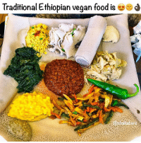 Food, Love, and Memes: Traditional Ethiopian vegan food is es  ars I love Ethiopia, I will live between here and DR Congo 🌱❤️ I never want to leave, the people are so amazing.
