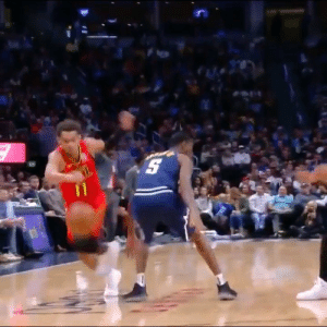 Trae Young nutmegs Barton then stares down the Nuggets bench! https://t.co/qzMQp0QVzD: Trae Young nutmegs Barton then stares down the Nuggets bench! https://t.co/qzMQp0QVzD