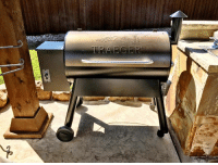 TRAEG E Absolute BEST GRILL on the market. Go follow Traeger Grills right now & ask your dad to get the family one. Just smoked my ELK backstrap wrapped in bacon & it was SUPERB! #TraegerGrills 👌🏼💯