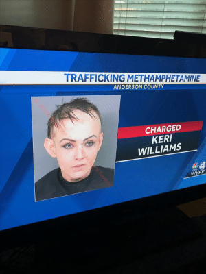 That's methed up..: TRAFFICKING METHAMPHETAMINE  ANDERSON COUNTY  CHARGED  KERI  WILLIAMS  WYFF  2020  sonty SCAll Rs Reservedt  nty SC All Rts Resen That's methed up..