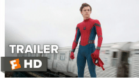 Memes, Spider, and Spiders: TRAILER  F HD Tom Holland is the Spider-Man we've been waiting for.  Watch the awesome 1st trailer for 'Spider-Man: Homecoming'!