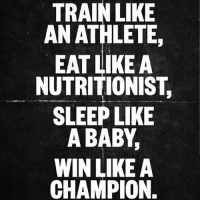 Funny, Gym, and Love: TRAIN LIKE  AN ATHLETE,  EAT LIKE A  NUTRITIONIST.  SLEEP LIKE  A BABY,  WIN LIKE A  CHAMPION. Follow ⏩@AESTHETICELITE ⏪ for Motivation 💪😎 . @AESTHETICELITE 💯 @AESTHETICELITE 💯 @AESTHETICELITE 💯 . workout bodybuilding crossfit strong motivation instalike powerlifting bench deadlift squat squats gymmemes gymhumor love funny instamood gymmotivation jokes legday girlswholift fitchick fitspo gym fitness bossgirls